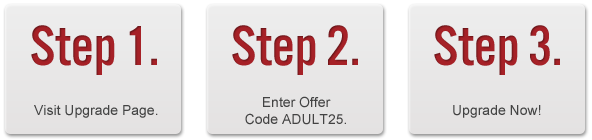 Use Offer Code 'ADULT25'